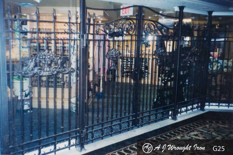 Banff Springs custom iron gate
