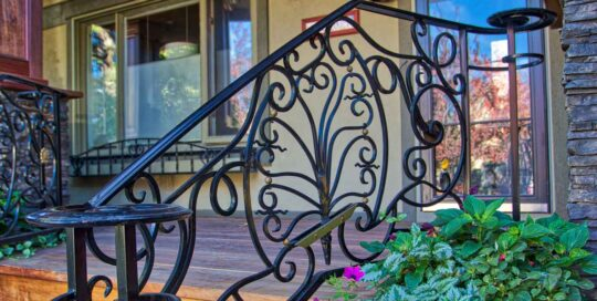 R17 ornate iron railing Calgary