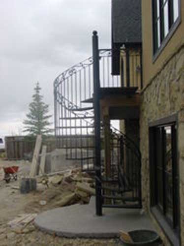 R14 custom iron stairs Calgary