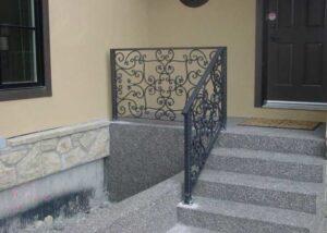 ornate metal railing