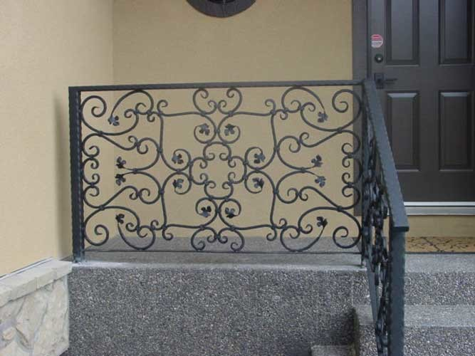 ornate wrought iron railing