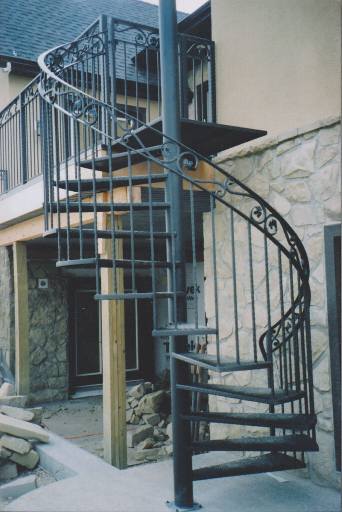 wrought iron spiral staircase - canmore