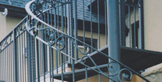 spiral railing detail