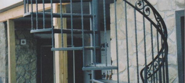 metal spiral staircase - black