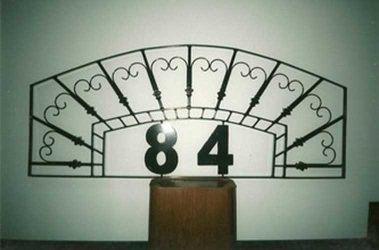 custom iron work - house address