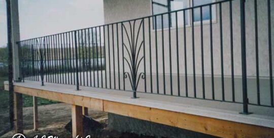 plant motif metal railing