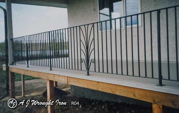 metal fence - plant motif