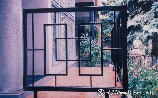 balcony railing - square motif