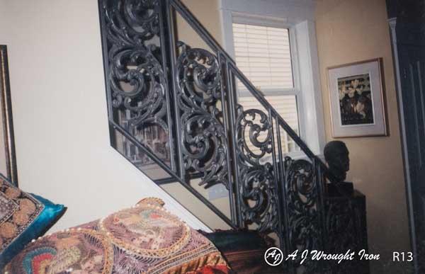 iron railing - bird of paradise design