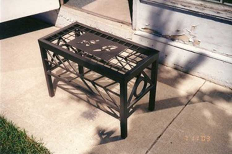custom iron bench