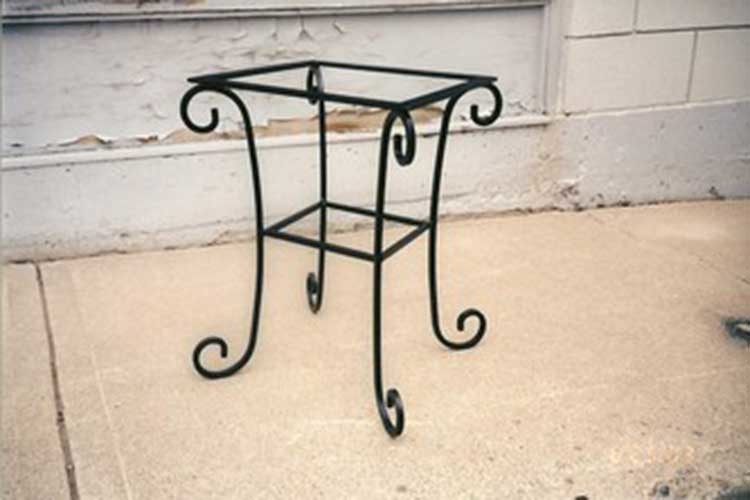 C05 custom iron side table