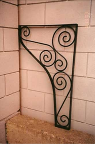 custom iron shelf bracket