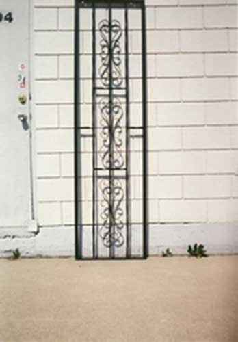 Custom Wrought Iron Security Grill