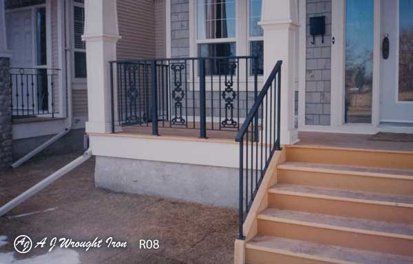 iron railing with decorative castings