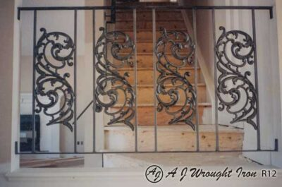 iron railing with metal castings