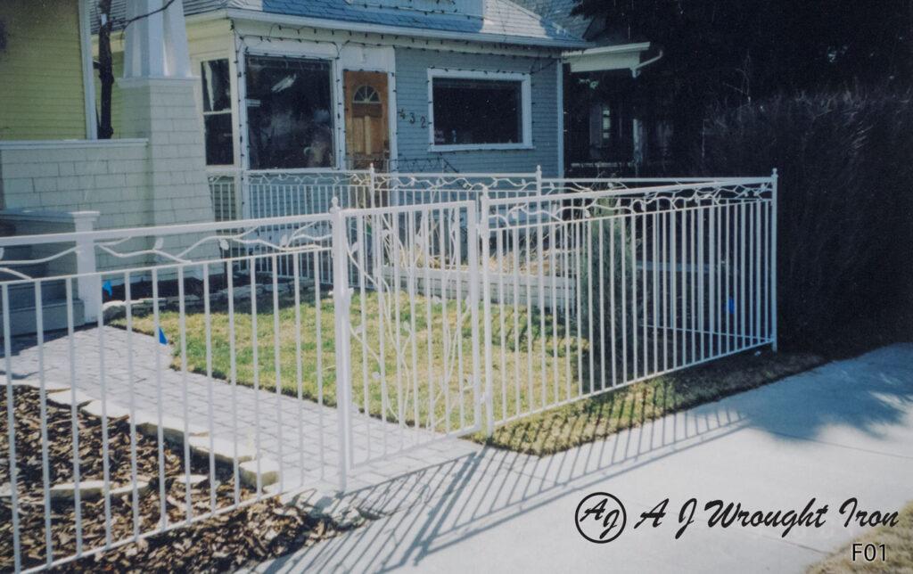 leaf vine iron fence - Calgary