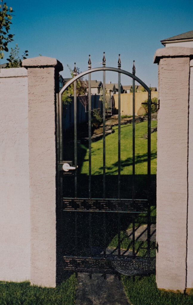 arched metal gate w castings