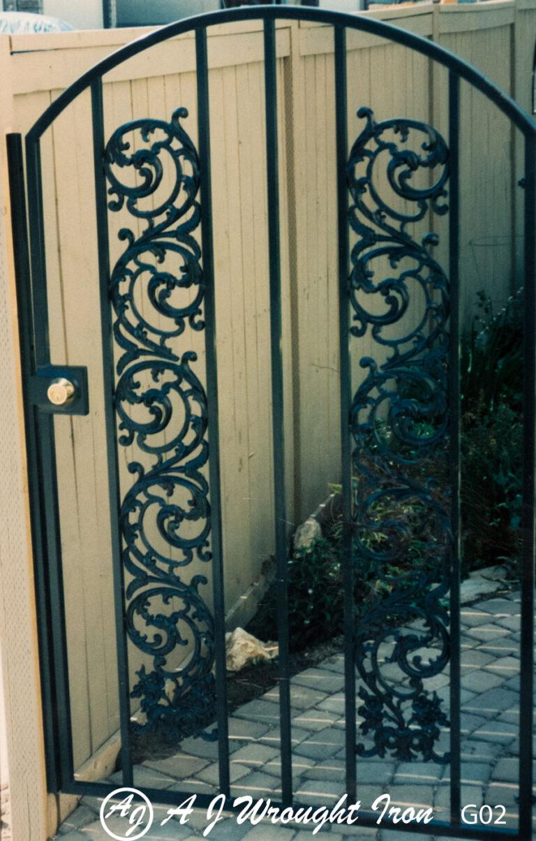 Bird of paradise metal security gate