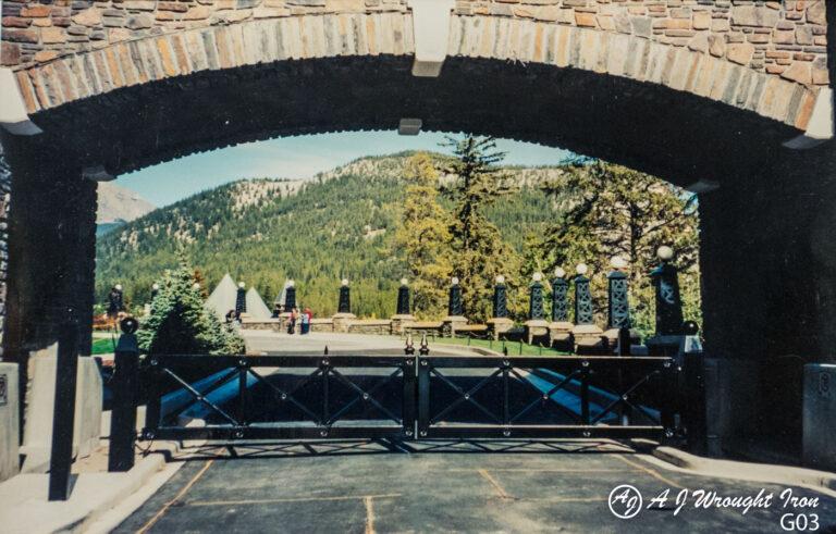 Banff Springs Hotel metal gate