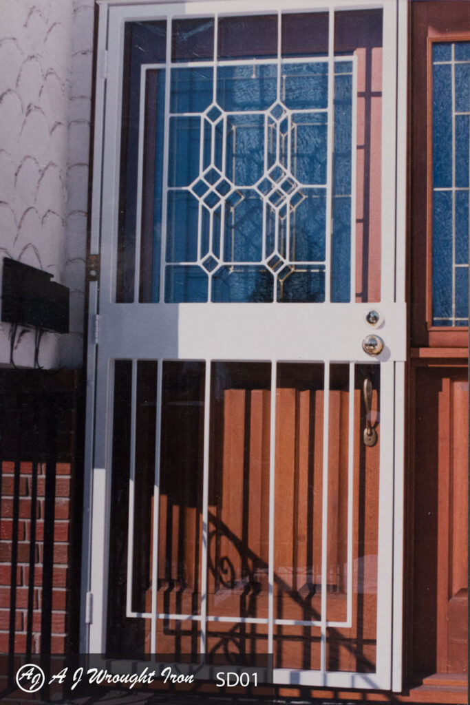 decorative iron storm door for security