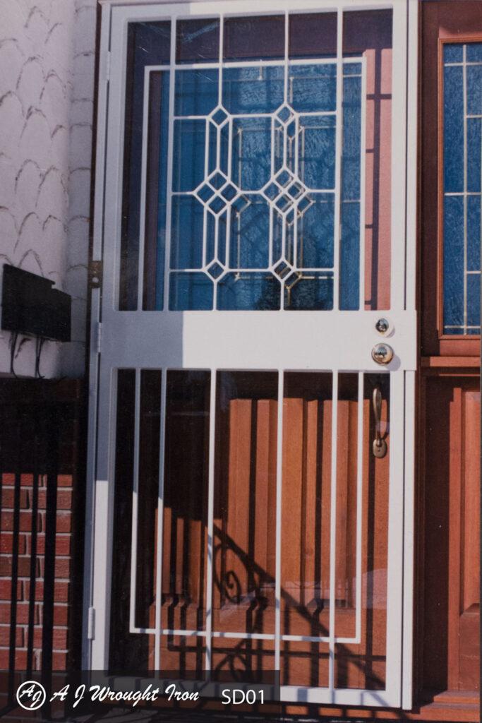 decorative iron storm door for security