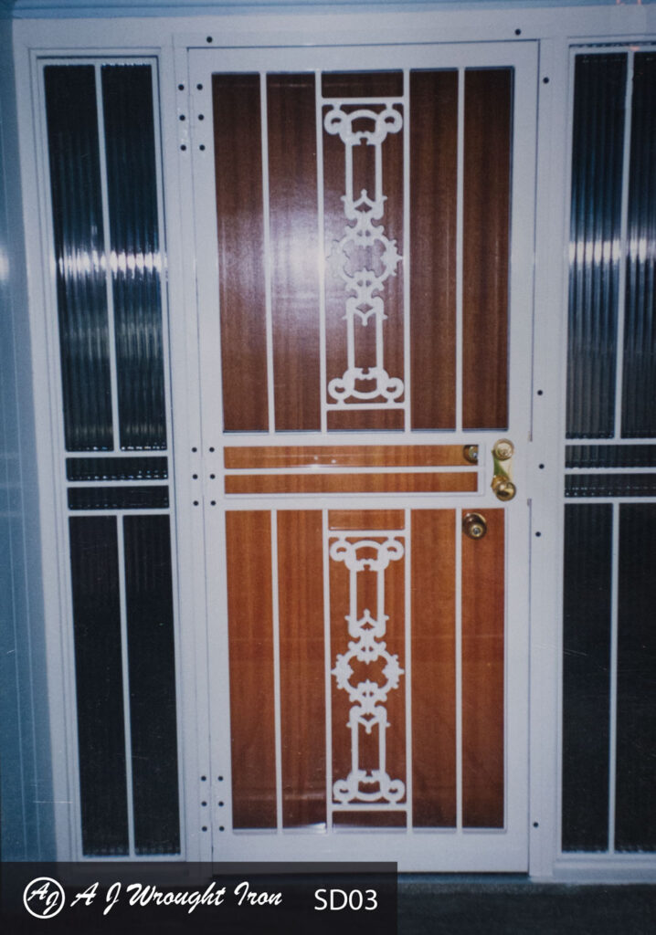 security door with decorative casting