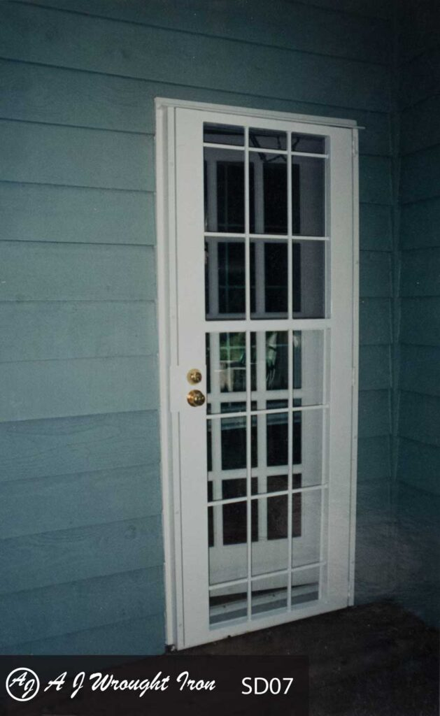 secure storm door - tutor design - calgary