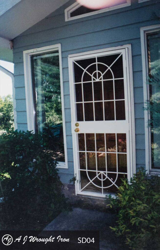 SD4 Double arch storm door design for security