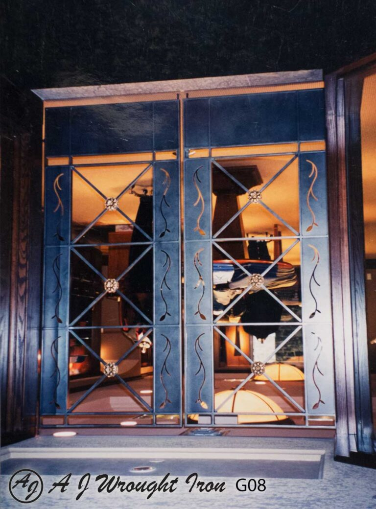 laser cut metal door design - Banff Springs retail