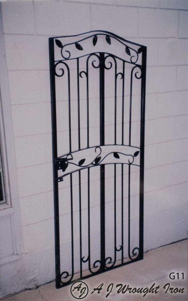 metal garden gate - leaf & vine design