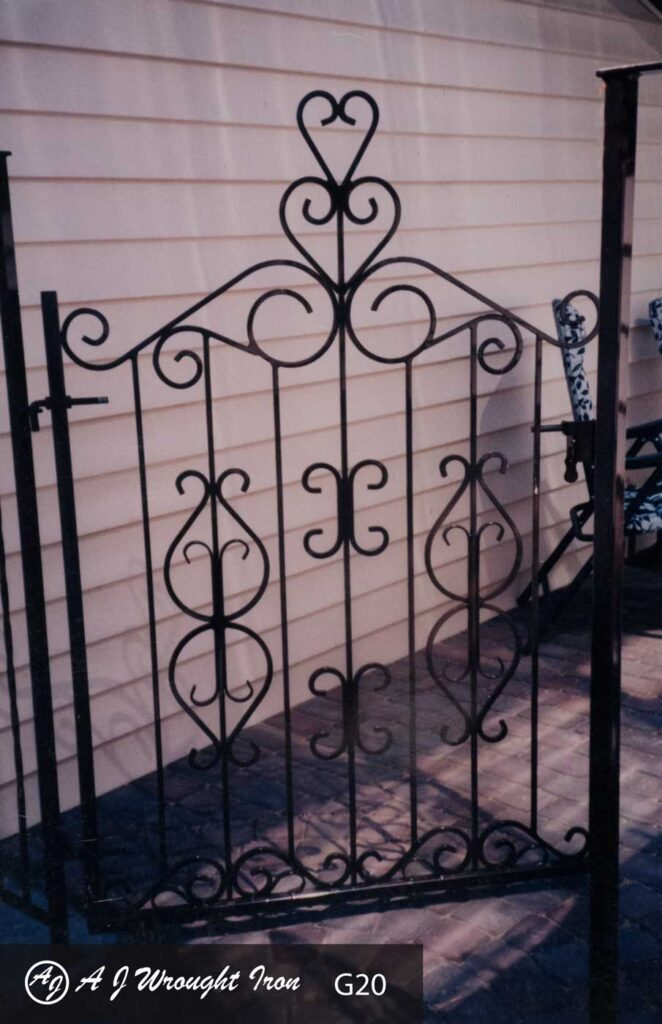 scroll wrought iron garden gate