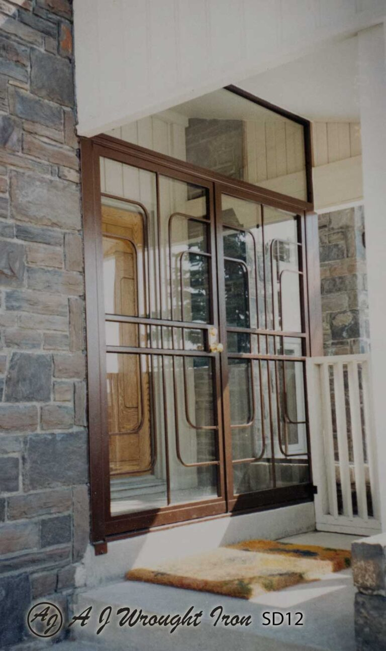 SD12 - double security door - art deco