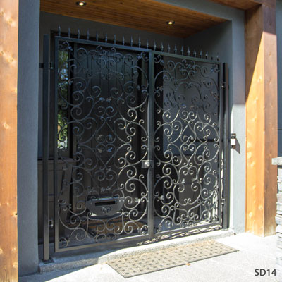 SD16 - Iron Security Door-Calgary & Security Doors and Grills in Calgary and Alberta- AJ Wrought Iron