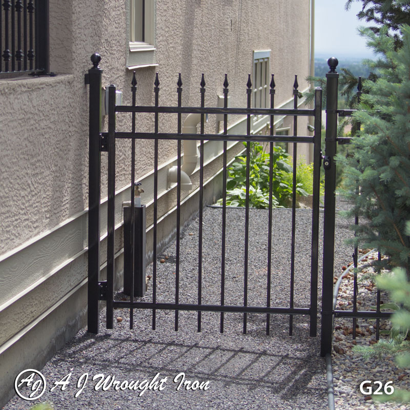 side gate - black wrought iron - Calgary