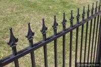 exterior iron picket fence