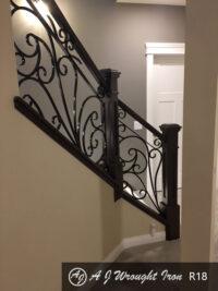 R18 forged ornamental railing