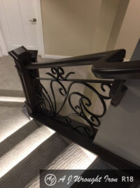 forged ornamental stair railing