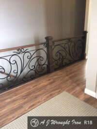 forged ornamental residential railing
