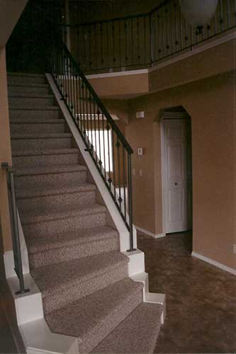 railing for interior staircase and balcony