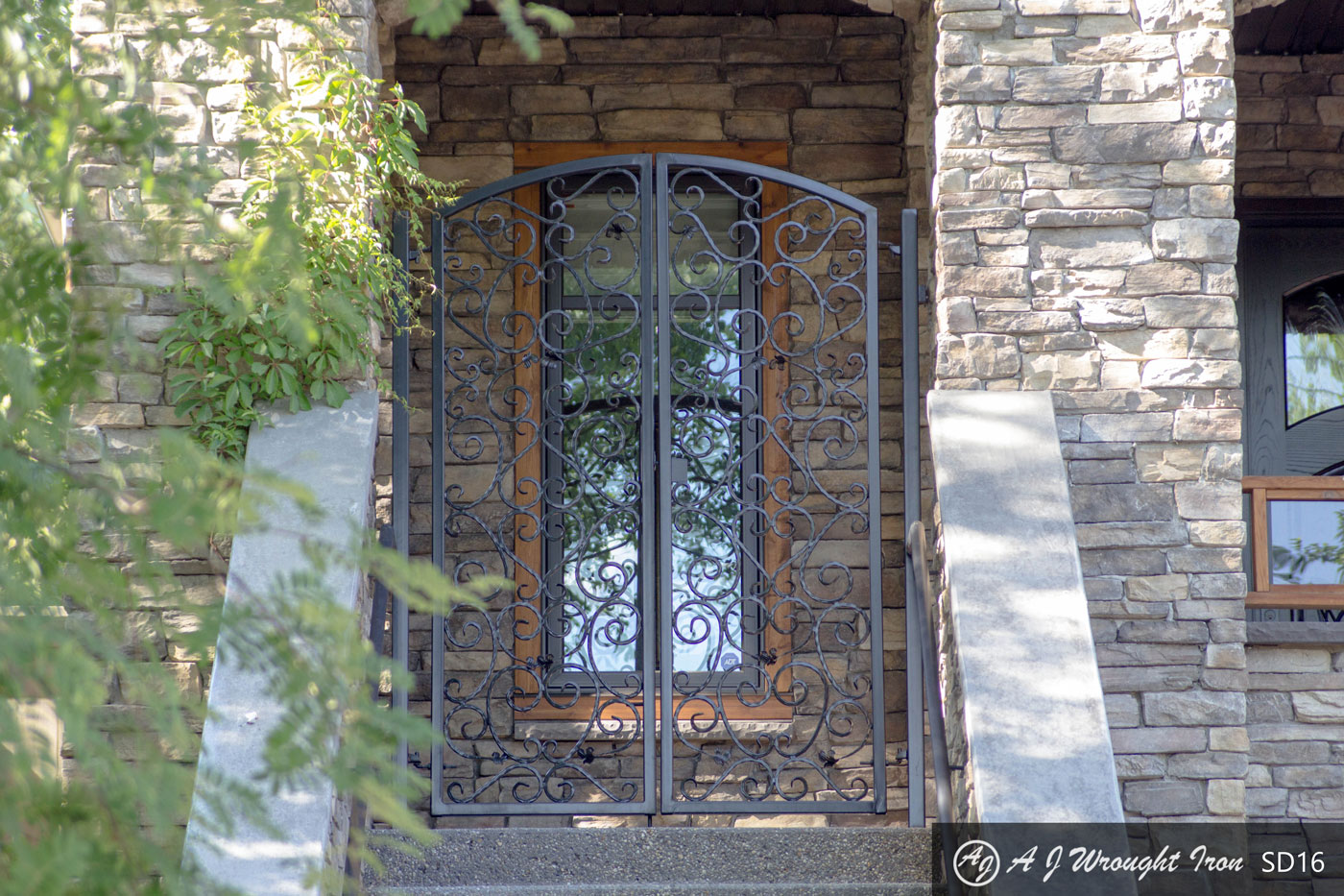 ornamental security gates - front door