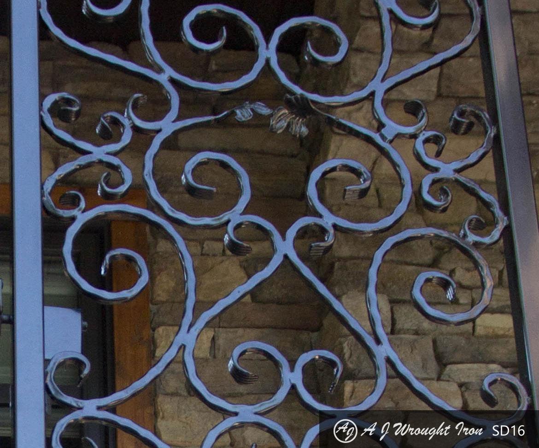 Ornamental Wrought Iron Security Gate Aj Wrought Iron