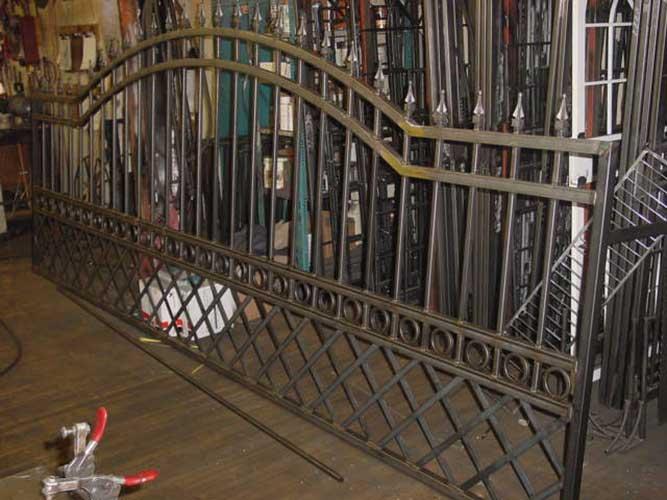 single metal driveway gate