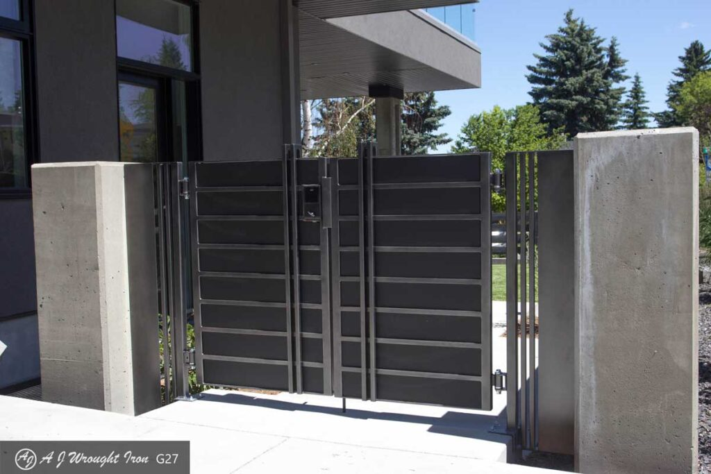 modern minimalist metal security gate