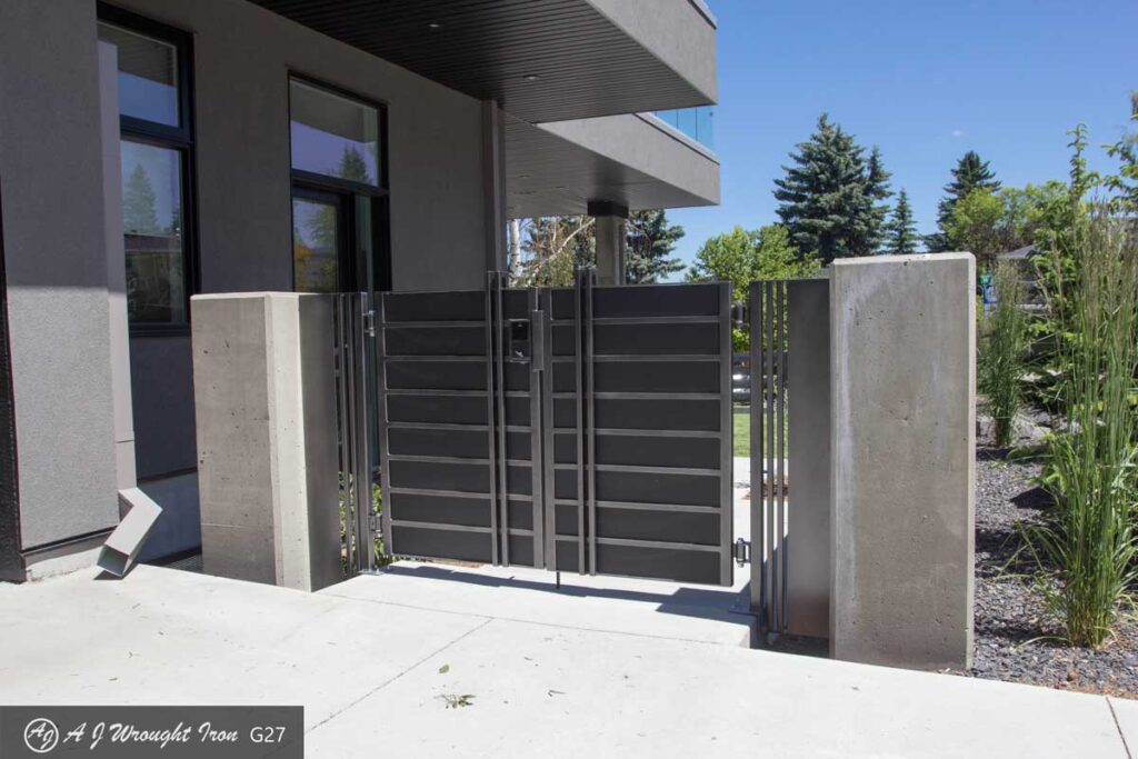 strong metal security gate for modern home