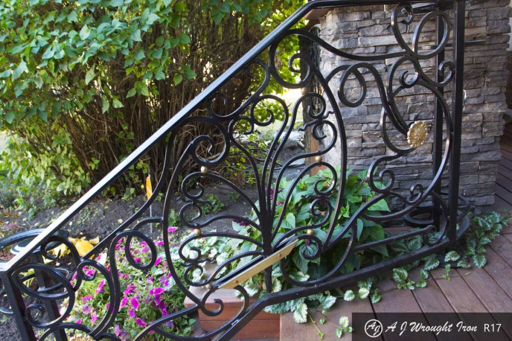 decorative forged iron railing