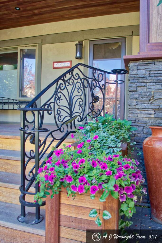 elegant curved railing in Calgary Alberta