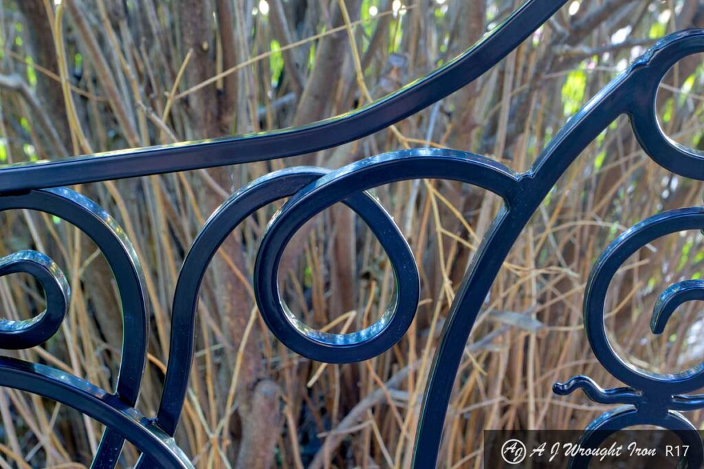 forged and bent iron bars - closeup