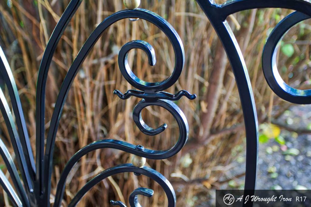 forged metal railing and ornamental details