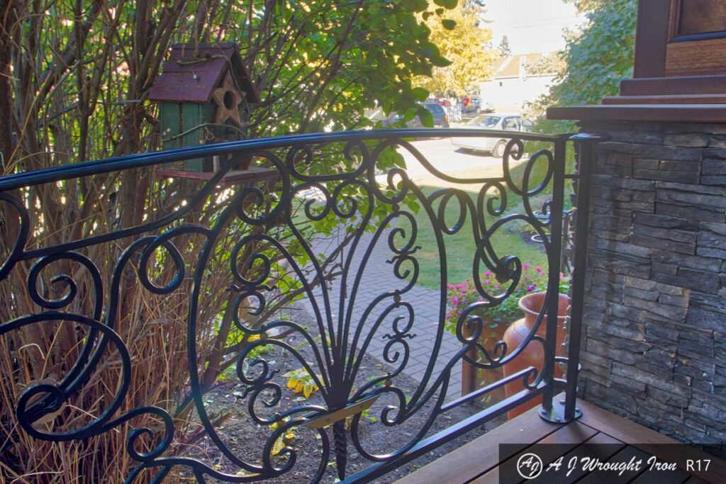 ornamental iron deck railing