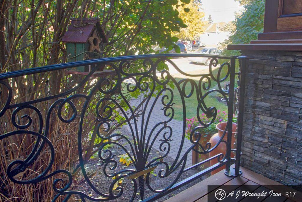 ornamental iron deck railing